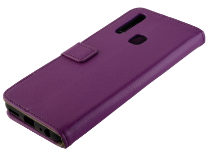 Synthetic Leather Wallet Case with Stand for vivo Y12 - Purple Leather Wallet Case