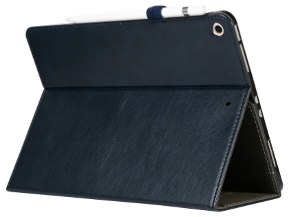 Synthetic Leather Flip Case with Stand for iPad 7th Gen - Midnight Blue Leather Flip Case