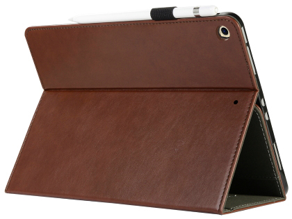Synthetic Leather Flip Case with Stand for iPad 7th Gen - Brown Leather Flip Case