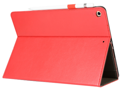 Synthetic Leather Flip Case with Stand for iPad 7th Gen - Red Leather Flip Case