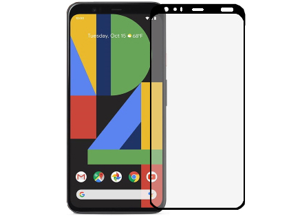 Full Tempered Glass Screen Protector for Google Pixel 4 - Black Screen Protector