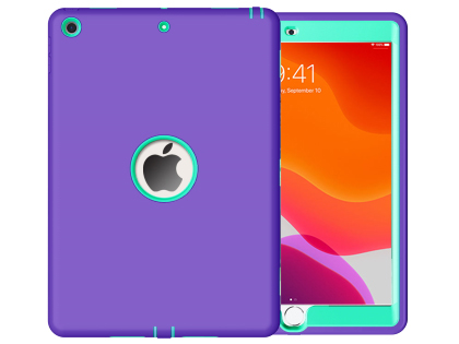Impact Case for iPad 7th Gen - Purple/Mint Impact Case