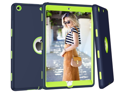 Impact Case for iPad 7th Gen - Navy/Green