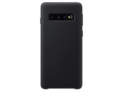 Silicone Case for Samsung Galaxy S10+ - Black Soft Cover