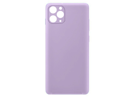 Silicone Case for Apple iPhone 11 Pro Max - Purple Soft Cover