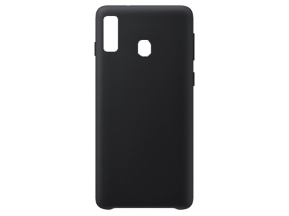 Silicone Case for Samsung Galaxy A20 - Black Soft Cover