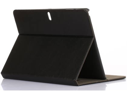 Synthetic Leather Flip Case with Stand for Samsung Galaxy Tab S 10.5 - Black Leather Flip Case
