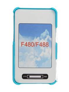 Back Case for Samsung F480 - Blue Hard Case