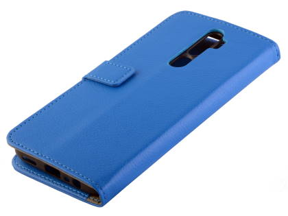 Synthetic Leather Wallet Case with Stand for OPPO A5 2020 - Blue Leather Wallet Case