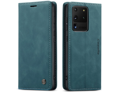 CaseMe Slim Synthetic Leather Wallet Case with Stand for Samsung Galaxy S20 Ultra - Teal