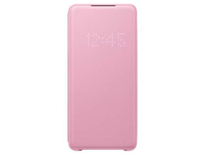 Genuine Samsung Galaxy S20 Smart LED View Cover - Pink S View Cover