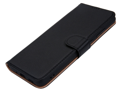 Premium Leather Wallet Case for Samsung Galaxy S20 - Black