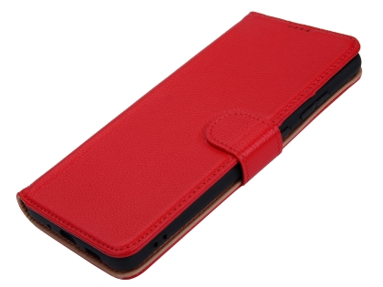 Premium Leather Wallet Case for Samsung Galaxy S20 Ultra - Red