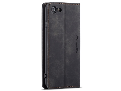 CaseMe Slim Synthetic Leather Wallet Case with Stand for iPhone 8/7 - Charcoal