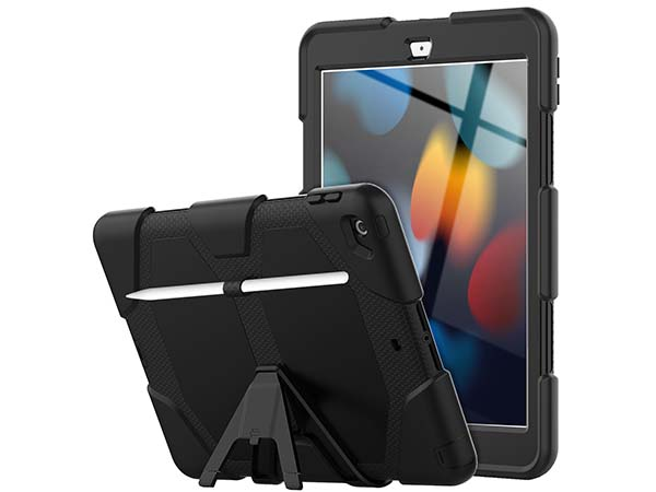 Rugged Impact Case for Apple iPad 7/8th Gen - Classic Black Impact Case