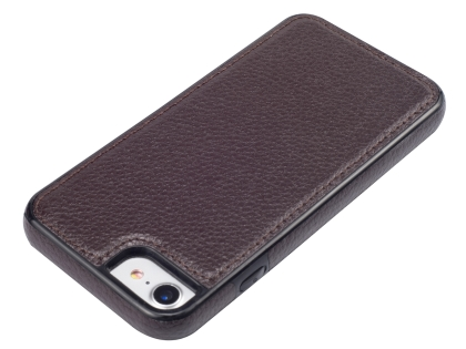 Synthetic Leather Back Cover for iPhone SE (2020) - Brown