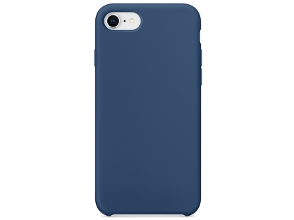 Silicone Case for Apple iPhone SE (2020) - Steel Blue Soft Cover