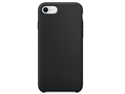 Silicone Case for Apple iPhone SE (2020) - Black Soft Cover