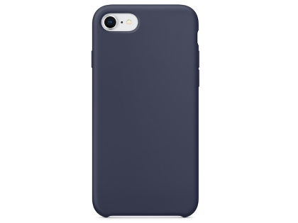 Silicone Case for Apple iPhone SE (2020) - Midnight Blue Soft Cover