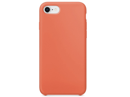 Silicone Case for Apple iPhone SE (2020) - Orange Soft Cover