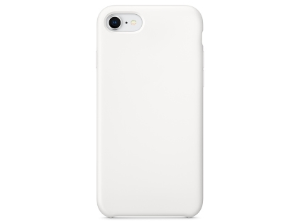 Silicone Case for Apple iPhone SE (2020) - White Soft Cover