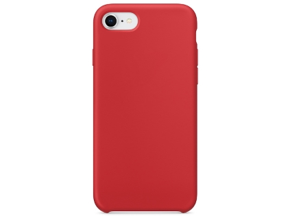 Silicone Case for Apple iPhone SE (2020) - Red Soft Cover