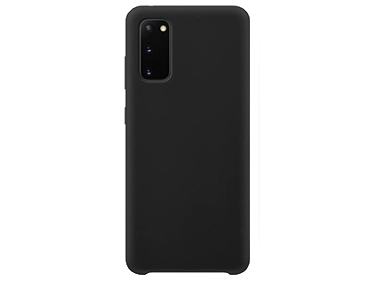 Silicone Case for Samsung Galaxy S20 - Black Soft Cover