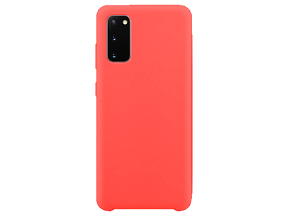 Silicone Case for Samsung Galaxy S20 - Red Soft Cover