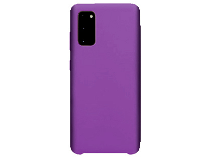 Silicone Case for Samsung Galaxy S20 - Purple Soft Cover
