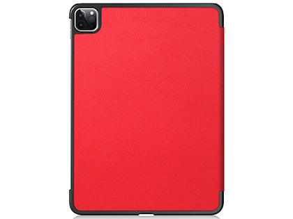 Premium Slim Synthetic Leather Flip Case with Stand for iPad Pro 11 (2020) - Red