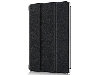 Premium Slim Synthetic Leather Flip Case with Stand for iPad Pro 12.9 (2020) - Black Leather Flip Case