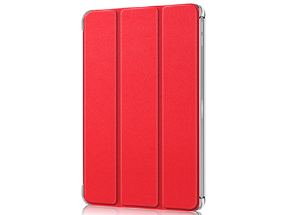 Premium Slim Synthetic Leather Flip Case with Stand for iPad Pro 12.9 (2020) - Red Leather Flip Case
