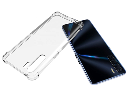 Gel Case with Bumper Edges for OPPO A91 - Clear Soft Cover