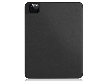 Premium Slim Synthetic Leather Flip Case with Stand for iPad Pro 12.9 (2020) - Black