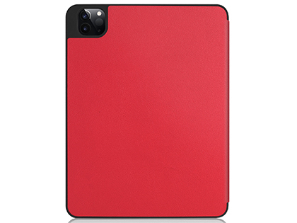 Premium Slim Synthetic Leather Flip Case with Stand for iPad Pro 12.9 (2020) - Red