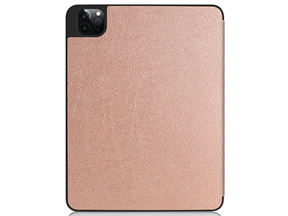 Premium Slim Synthetic Leather Flip Case with Stand for iPad Pro 12.9 (2020) - Rose Gold