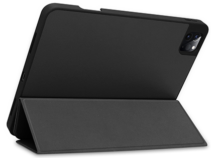 Premium Slim Synthetic Leather Flip Case with Stand for iPad Pro 12.9 (2018) - Black