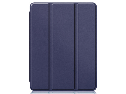 Premium Slim Synthetic Leather Flip Case with Stand for iPad Pro 12.9 (2018) - Midnight Blue