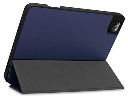 Premium Slim Synthetic Leather Flip Case with Stand for iPad Pro 11 (2020) - Midnight Blue