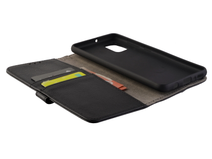 Synthetic Leather Wallet Case with Stand for Samsung Galaxy A31 - Black
