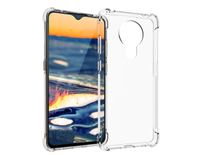 Gel Case with Bumper Edges for Nokia 5.3 - Clear Soft Cover