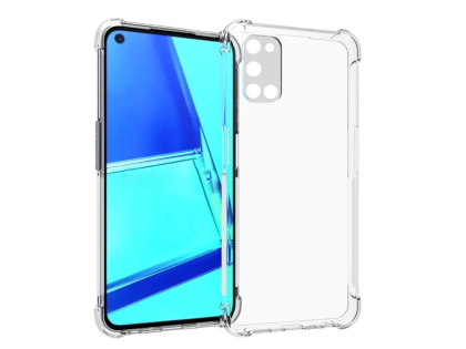 Gel Case with Bumper Edges for OPPO A72 - Clear Soft Cover