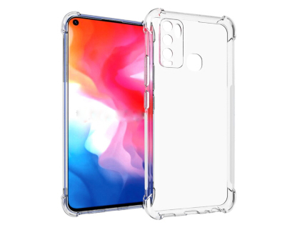 Gel Case with Bumper Edges for Vivo Y30 - Clear Soft Cover