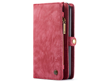 CaseMe 2-in-1 Synthetic Leather Wallet Case for Samsung Galaxy A20 - Pink/Blush Leather Wallet Case