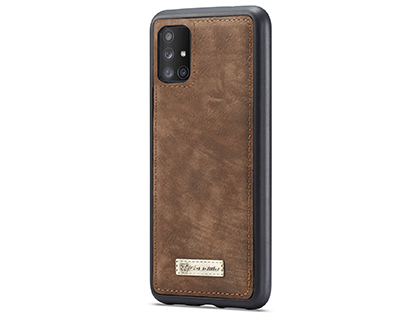 CaseMe 2-in-1 Synthetic Leather Wallet Case for Samsung Galaxy A71 - Beige/Tan