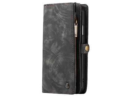 CaseMe 2-in-1 Synthetic Leather Wallet Case for iPhone 11 Pro - Khaki/Grey Leather Wallet Case