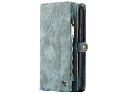 CaseMe 2-in-1 Synthetic Leather Wallet Case for iPhone 11 Pro - Teal/Ash Leather Wallet Case