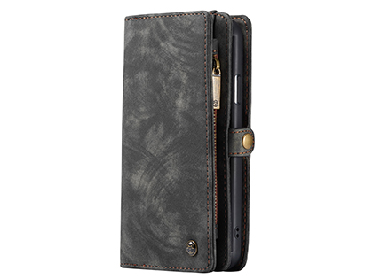 CaseMe 2-in-1 Synthetic Leather Wallet Case for iPhone 11 - Charcoal Leather Wallet Case
