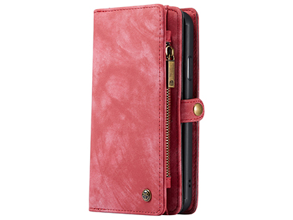 CaseMe 2-in-1 Synthetic Leather Wallet Case for iPhone 11 - Pink/Blush Leather Wallet Case