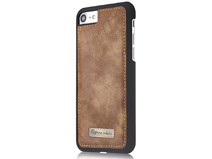 CaseMe 2-in-1 Synthetic Leather Wallet Case for iPhone 8/7 - Beige/Tan